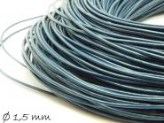 1 m Lederband dunkelblau, 1,5 mm