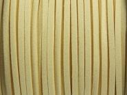 Wildlederimitat 3 x 1,5 mm elfenbein-farben
