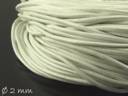 1 m Lederband weiß, 2 mm