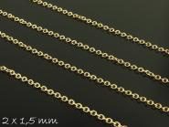 5 m Gliederkette rose gold, fein, 2 x 1,5 mm