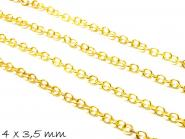 1 m Gliederkette gold, fein, 4 x 3,5 mm