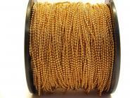 1 m Kugelkette gold, fein, 1,5 mm Kugeln