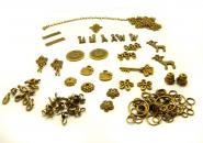 1 Set bronze vintage Anhänger - Bastelset 2