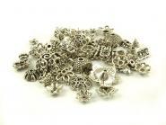 50 g Perlenkappen Mix altsilber ( ca. 100 Stück)