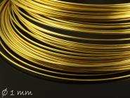 Spiraldraht (memory wire) gold Ø 1 mm