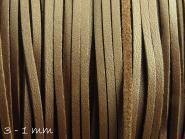 Wildlederimitat 3 x 1,5 mm dunkelbraun (glatt)