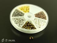 1 Box Quetschperlen (Crimp) 5 mm FarbmixDurchmesser
