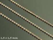 1 m Gliederkette rose gold, fein, 1,5 x 1,5 mm