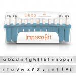 1 Set Buchstaben Stempel ImpressArt 3mm Deco lowercase
