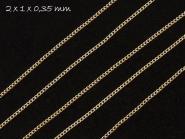 Gliederkette silber, fein, 2 x 1 mm