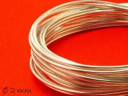 6 m Aluminiumdraht, silber, weich, 2 mm