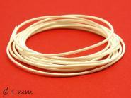 5 m gewachste Polyesterschnur, weiß, Ø 1 mm