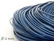 Lederband blau, 2 mm