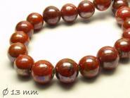 Porzellan Perlen Ø 13 mm rot braun
