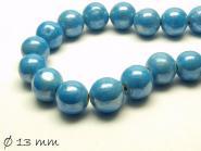 Porzellan Perlen Ø 13 mm blau