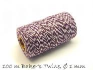 Baker's Twine, violett-weiß Ø 1 mm
