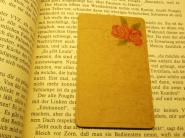 Design Lesezeichen Papier Blumen