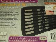 Set Buchstaben Stempel Punze 2 mm Handwritten - Kleinbuchstaben
