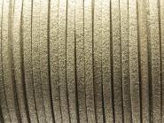 Wildlederimitat 3 x 1,5 mm silber (mit Glitzer)