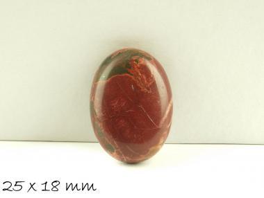 1 Stk. Picture Jasper, Stein, 25 x 18 mm rot