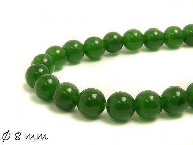 10 Stk Edelstein grüne Jade Perlen Ø 8 mm