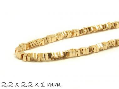 20 Stk Hämatit Perlen, Champagner - gold, 2,2 x 2,2 x 1 mm