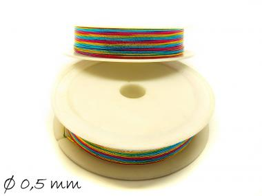 7 m Schmuckdraht Ø 0,5 mm, bunt, Regenbogen
