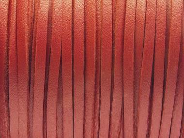 Wildlederimitat 3 x 1,5 mm weinrot (glatt)