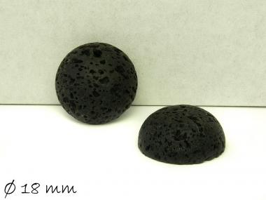 2 Stk. Cabochons, Lavastein, Ø 18 mm