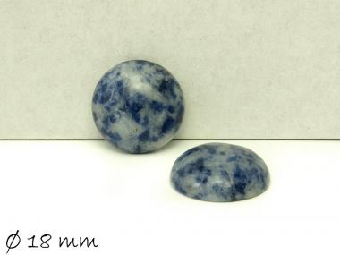 2 Stk Edelstein Cabochons, Midnight Blue Nahcolith Sodalith, 18 mm