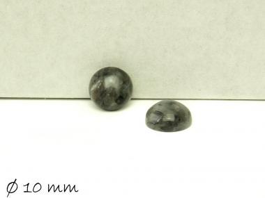 2 Stk Edelstein Cabochons, Larvikit, Ø 10 mm