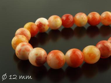 10 Stk natürliche Jadeperlen orange braun rot 12mm