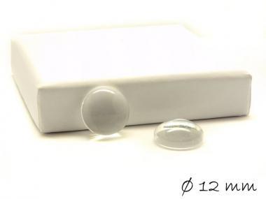 10 Stk. Glascabochons, rund, Durchmesser: 12 mm