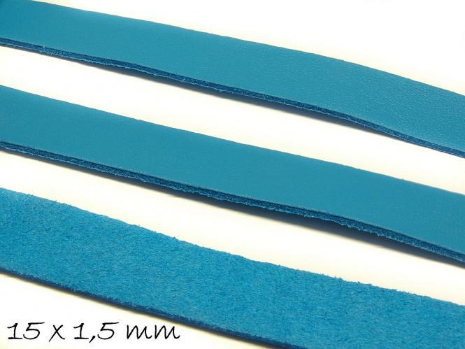 Wildlederimitat 15 x 1,5 mm blau, flach, Wildleder Imitat