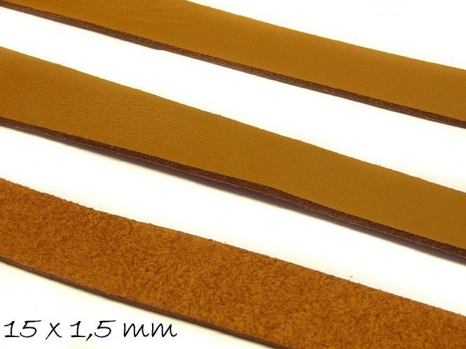 Wildlederimitat 15 x 1,5 mm braun, flach, Wildleder Imitat