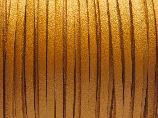 Wildlederimitat 3 x 1,5 mm hellbraun (glatt)