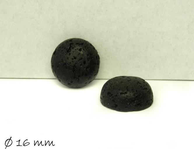 2 Stk. Cabochons, Lavastein, Ø 16 mm