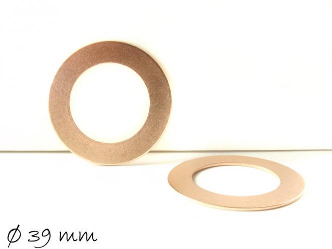 2 massive Kupfer Stempelplättchen Donut Ø 39 mm