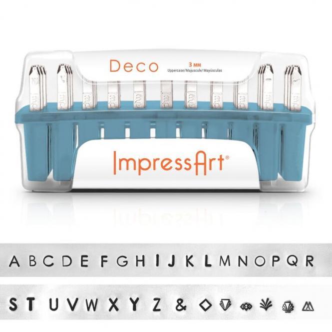 1 Set Buchstaben Stempel ImpressArt 3mm Deco uppercase